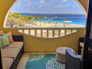 Summer sale* breathtaking Bonaire Oceanfront renovated SandDollar F10 2 Bd 2.5 b
