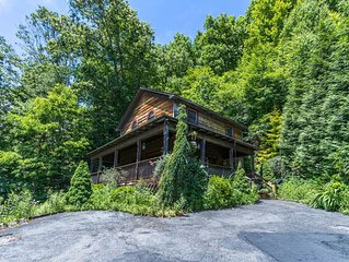 A Birds Eye View - Rustic Cozy Cabin close to Boone with large deck and hot tub!