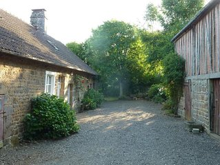 Spacious Old Cottage with Play Barn and view of Chateau in Normandy Countryside