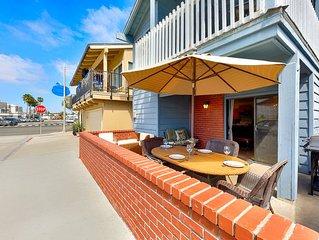Beach Home w/ Private Patio, Steps to Beach + Walk to All