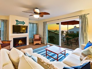 Condo w/ Ocean + Pier Views, Walk to Beach + Dining