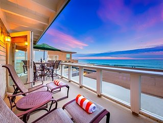 15% OFF MAR! Beautiful Oceanfront Spacious Beach Home on the Sand!