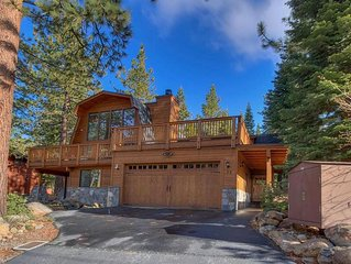 Dollar Point Cabin one block from Lake and 5 min drive to downtown Tahoe City.