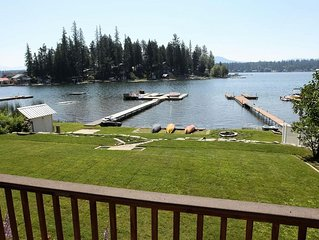 60 Feet Of Sandy Waterfront With Large Lawn, Spacious Deck And Beautiful Views.