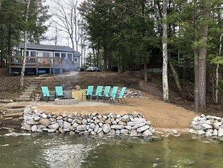 3 Bedroom Lakefront Cottage - Completely Remodeled, 60 feet of frontage