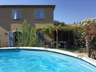 Villa sur la cote bleue avec grande piscine hors sol et grand terrain