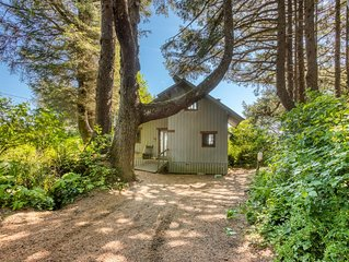 Dog-friendly beachfront cabin with private path to beach and ocean views!
