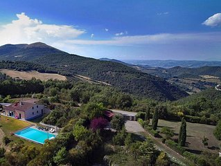 Villa 'Alle Cime', a wonderful spot over the hills around Perugia