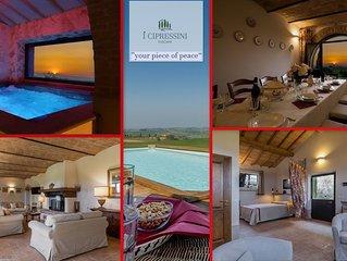 Villa colonica con piscina, spa nel cuore della Toscana Val d'Orcia Pienza Siena