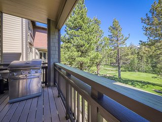 Charming vacation condo with shared hot tub/pool & views of the mountains.
