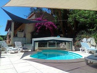 Villa La Désirade exposée plein sud , piscine privée ,climatisation
