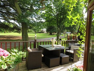 Dog friendly lodge In a tranquil setting with 150 acres of beautiful forest
