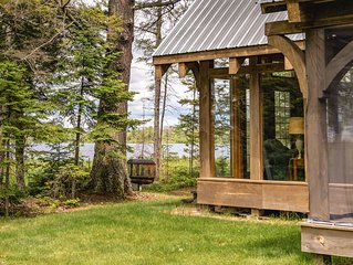 Ultimate Private Retreat – Waterfront Timber Frame Cabin -- Sleeps 6