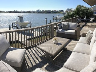 Waterfront house on little Lafitte Bay, just 2 blocks from the Gulf beach