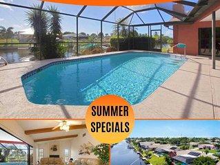 22% OFF! SWFL Rentals - Villa Delieta - Stunning Gulf Access Solar Heated Pool S