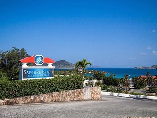 Sapphire Beach, NEW LOW RATES, Updated, Beach level condo