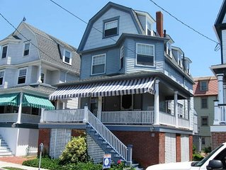 Lovely 6 BR Less Than a Block to Finest Beach. Center of Cape May