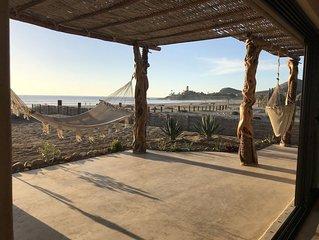 Playa Los Cerritos Beachfront Home on Most Popular Surfing & Swim Beach