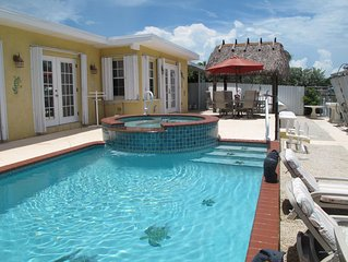SPRING SPECIAL- $1700 April 22-29th. The Best House,  Heated Pool and Spa, Canal