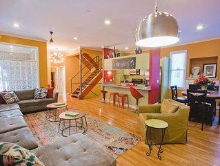 Beale 2 blocks: 3400 SqFt, 11 beds, 2car-garage, rooftop deck, trolley in front