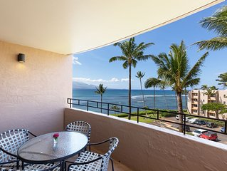 Maui Summer Savings Right on Ocean Remodeled A/C Living Room*Island Sands 500*