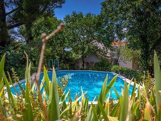 Insel Krk/ Kroatien: Haus mit grossem, privatem Garten, Ruhe, Pool, Strand 1km