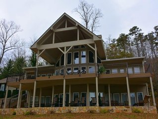 BEAUTIFUL LAKEFRONT MOUNTAIN HOME ON LAKE SANTEETLAH view of  GREAT SMOKY MTNS