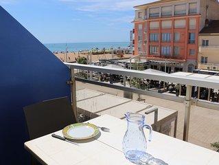 A deux pas de la plage, bel appartement avec vue sur mer