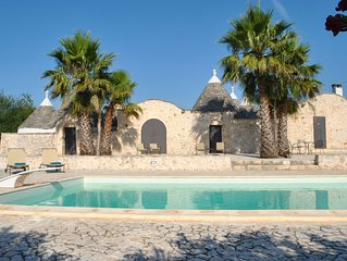 Tranquil family friendly Trullo With Own Pool And Close To The Adriatic