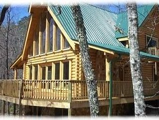 Custom River Bear Log Cabin Overlooking Little Tennessee River