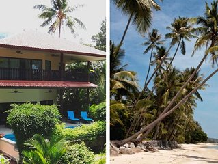 Beach front Resort - Villa With Private Pool At 40 Meters From The Beach