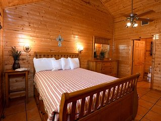 Restful lodge with frio springs views and tranquil settings
