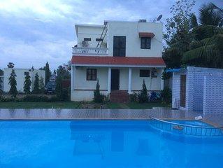 New Villa with Swimming Pool close to Mahabalipuram for rent.