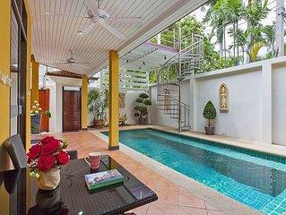 Sunny Villa |  Cozy 4 Bed Villa with Private Pool in Jomtien South Pattaya
