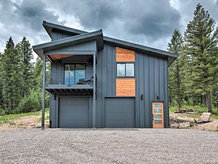 NEW! Modern Evergreen Cabin on 35 Acres w/ Views!