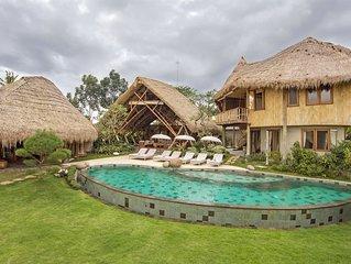 Luxury 5 Bedroom Villa , Rice Fields View, Ubud