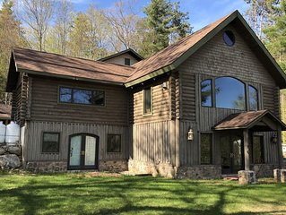 Giant Adirondack House - Gorgeous lake view home perfect for 2 Family Vacation