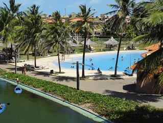 APARTAMENTO VIZINHO AO BEACH PAR, no Resort AquaVille, Porto das Dunas Aquiraz C