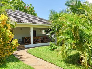 A 2 bedroom fully furnished bungalow JUST for you at the heart of Mombasa Diani.