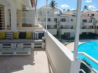 LUX PENTHOUSE 3BR, 3 BT, BBQ, OCEAN&POOL VIEW, LOS CORALES BEACH
