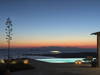 Luxury Villa Delion overlooks the bay with stunning vistas night and day