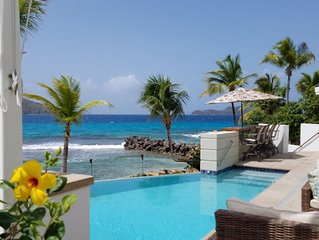 ONE BEACH ROAD; 5 Bedroom, 5 1/2 Bath Beachfront Oasis  St Thomas VI