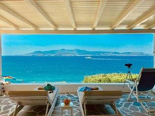 Vista Ariadne - Breathtaking 180° sea & sunset view and privacy.
