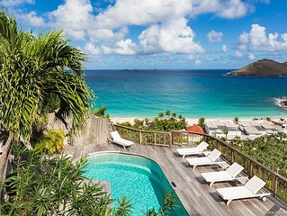 Heated Pool Overlooking Flamands Beach, Short Walk to Beach and Hotel, Tropical