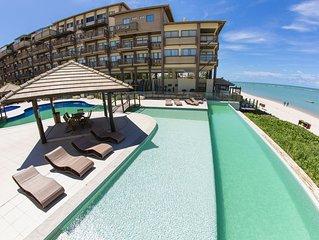 Flat de alto padrao na beira-mar do paraiso, em Barra de Sao Miguel