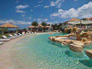 Villa Sandyline in St Martin - Luxury 6 Bedroom Beach Front Villa on Plum Bay