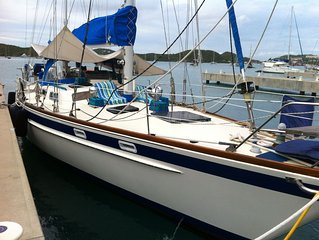 Sail aboard Sea Witch a 58 foot Luxury Pearson Sailing Yacht