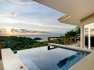 Beautiful Cliffside House - Magnificent Views of Playa Ocotal & Papagayo Gulf