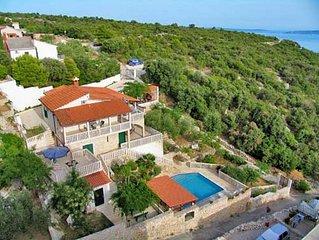 Seaside holiday villa Karmen with stunning view