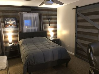 Newly Remodeled Lubbock Theme 1 bedroom near Tech with backyard resort!